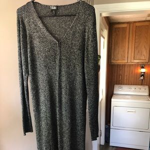 Super Long Shimmer Cardigan